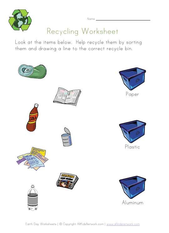 Worksheets Recycling For Kids Worksheets 1000 images about earth day on pinterest coloring pages recycling and worksheets