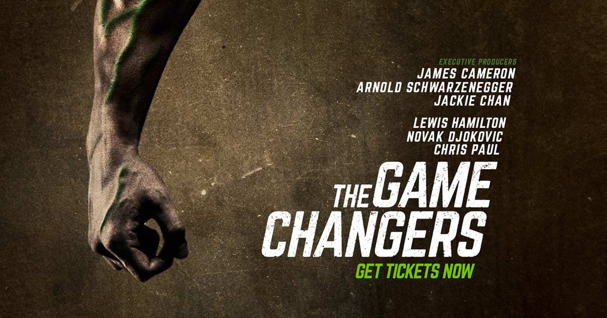 Film The Game Changers Plant Based Recipes James Cameron Game Changer
