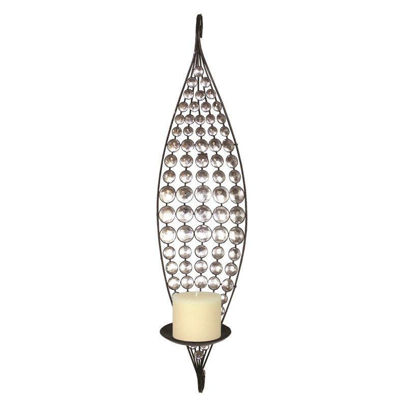 Home Source Industries Petal Shaped Metal Wall Sconce Candle