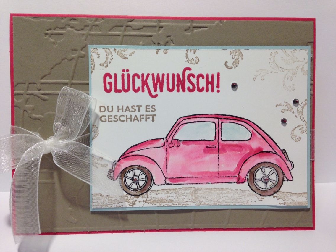 Führerschein Bestanden скрабукинг Pinterest Cards Stampin Up