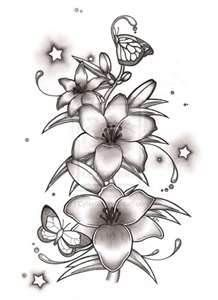 78f0bedfd Black And White Lily Tattoo Design For Girl Tattoos Ideas | Tattoos ...