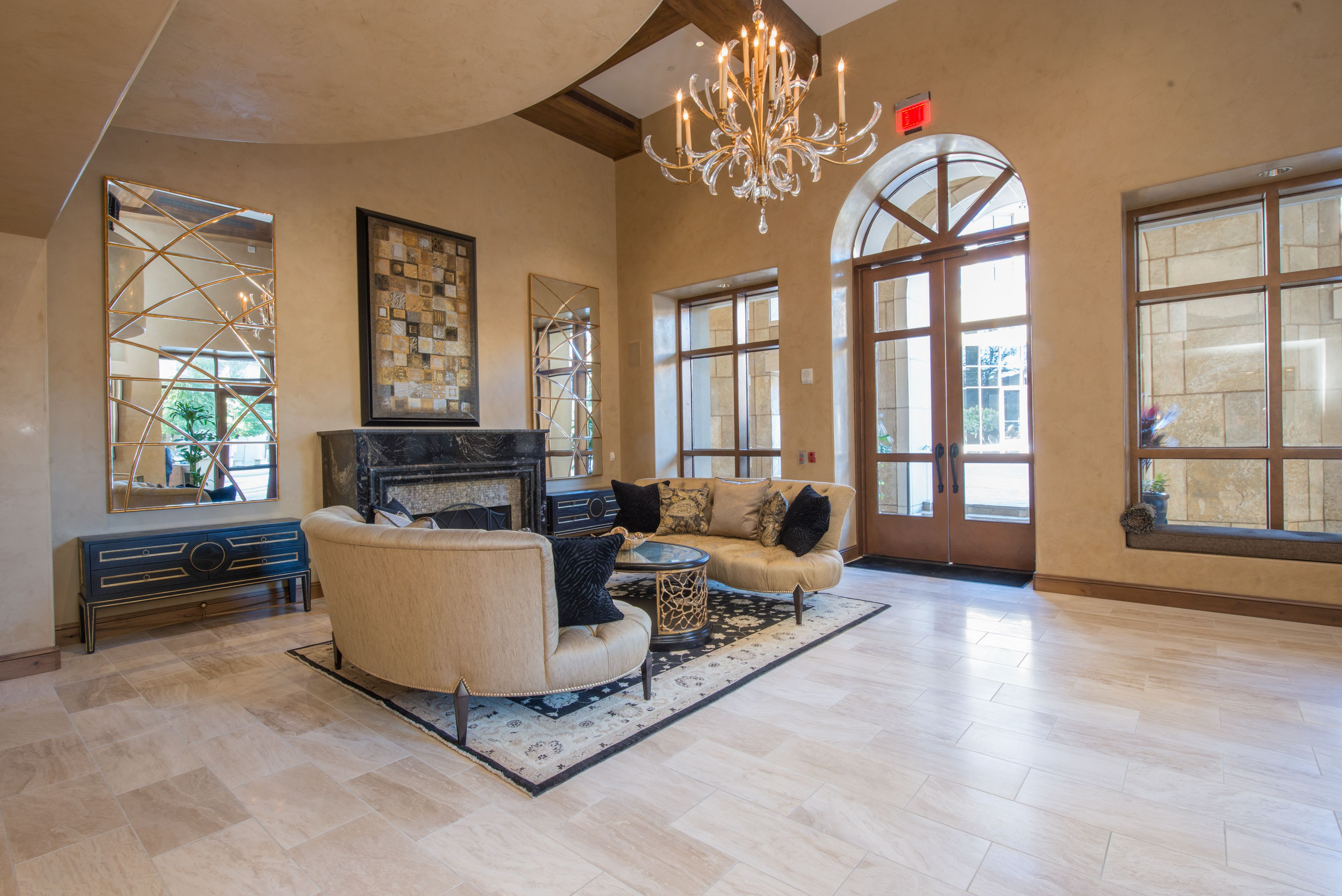 The Lobby Of This High End Condominium Residence In