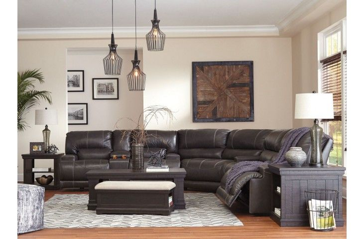 McCaskill Gray Reclining Power Sectional From Ashley | Coleman Furniture |  Living Room | Pinterest | Gray, Living Rooms And Doors