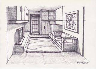 A Room 270509 Pencil Rendering Drawing And Paint Architecture Design Drawing Drawing Techniques Interior Design Drawings