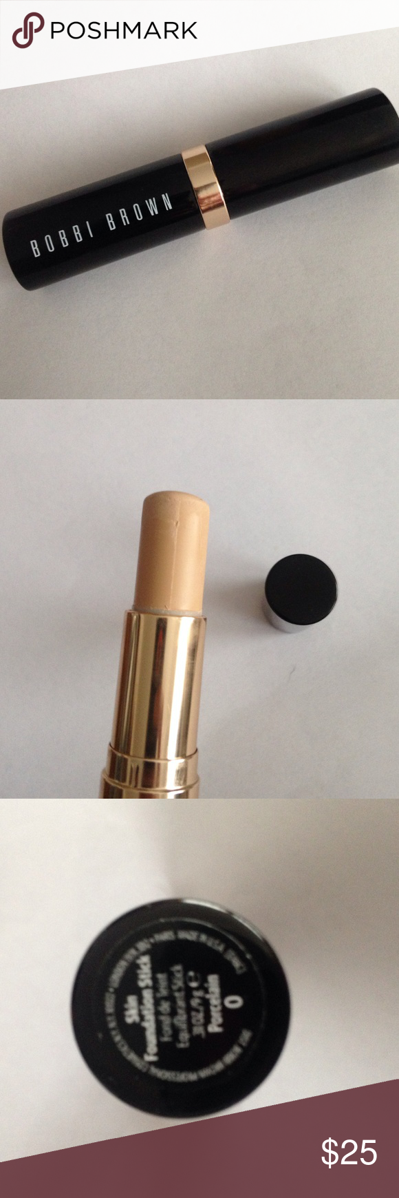 Bobbi Brown foundation stick Used four times, lots of product left as shown in pic. Color is porcelain Bobbi Brown Makeup Foundation