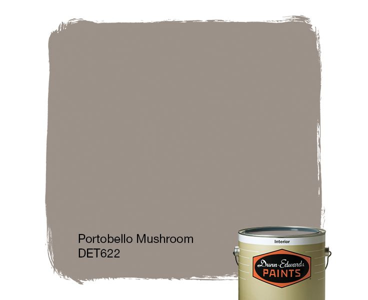 mushroom paint colorDunnEdwards Paints paint color Portobello Mushroom DET622
