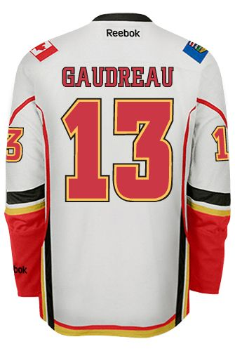 big sale 25285 e2990 Calgary Flames Johnny GAUDREAU #13 Official Away Reebok ...