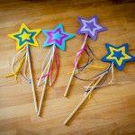 Feen Zauberstab Bastelvorlage für Kindergeburtstag