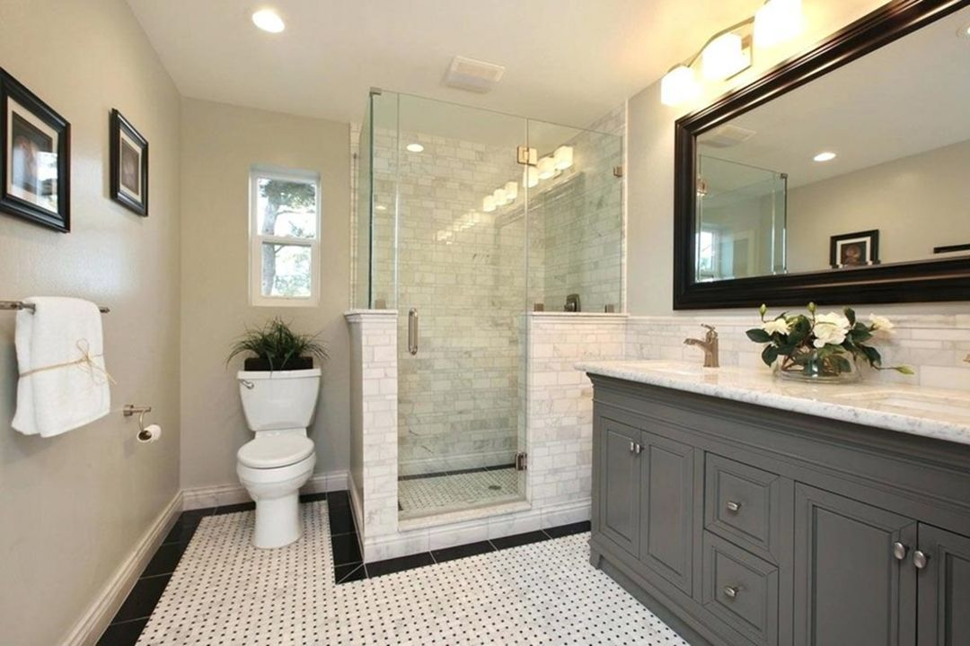 20 Beautiful Small Bathroom Designs That Are Suitable To Make You Relax And Comfortable Affordable Bathroom Remodel Bathroom Remodel Master Classic Bathroom Design