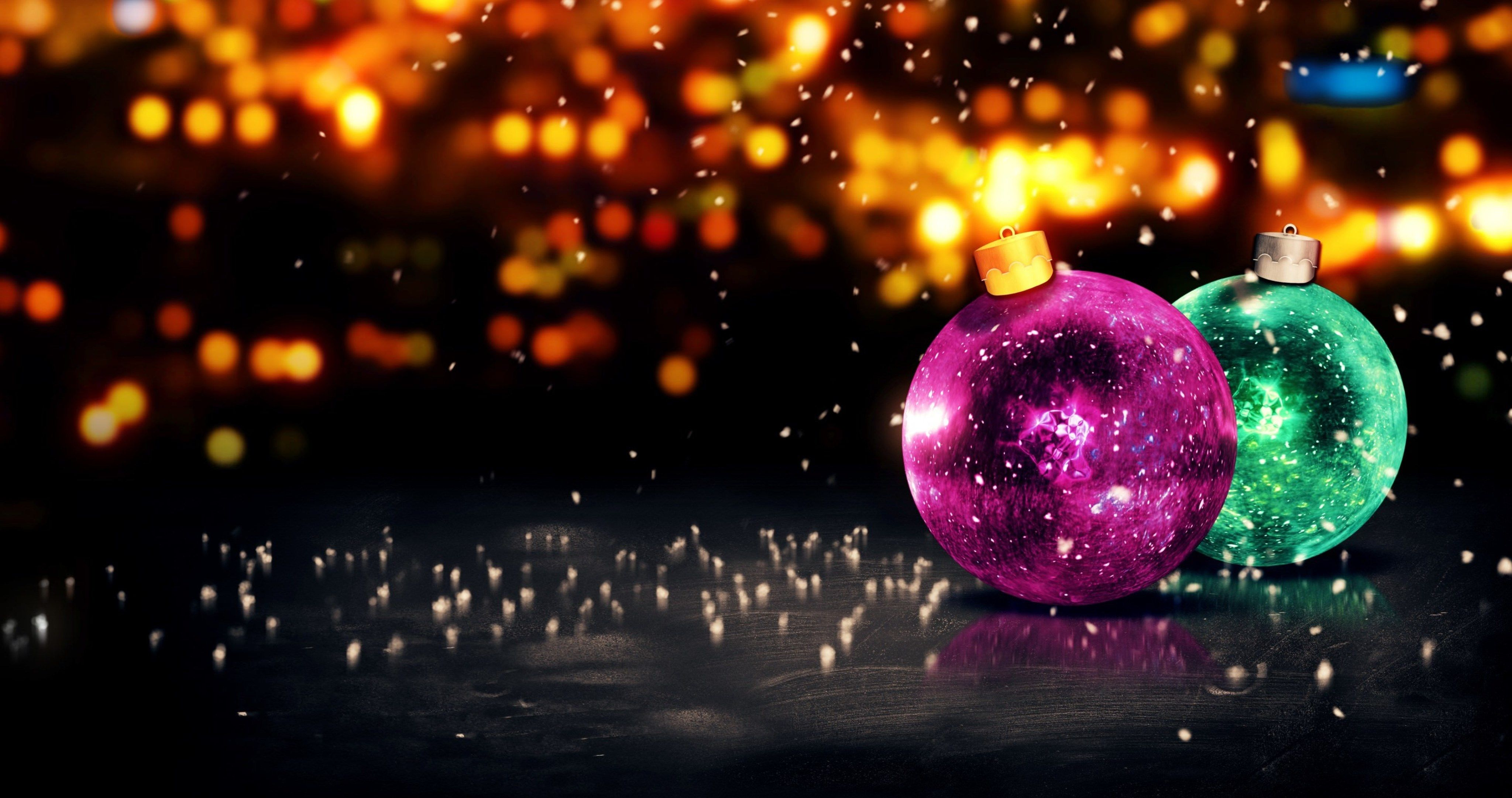Árbol De Navidad Ilustración 2015 Ultra Hd Wallpapers: Merry Christmas Balls Wallpaper 4k Ultra Hd Wallpaper