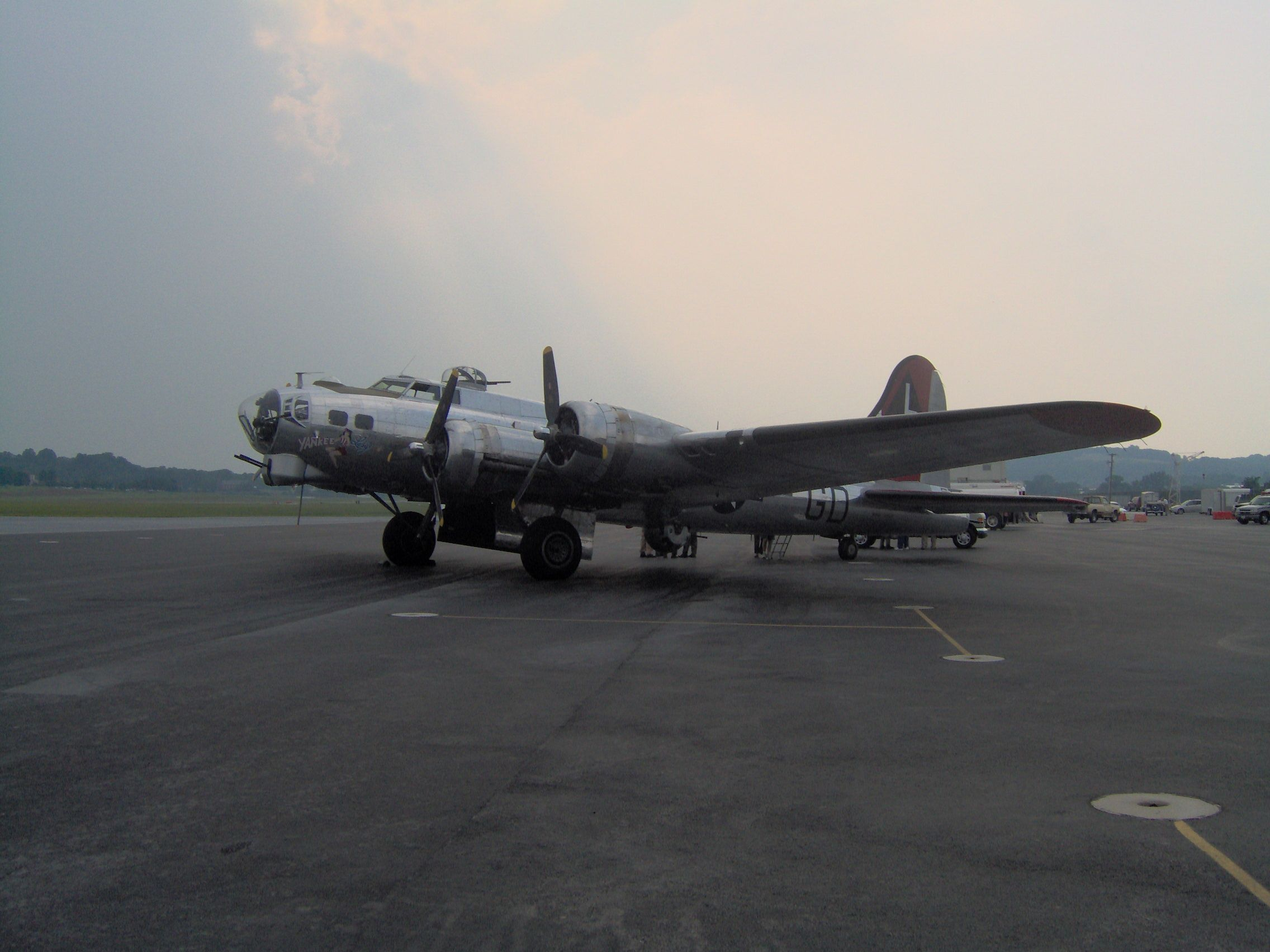 "Yankee Air Museum's B17 ""Yankee Lady"" (which I got to"