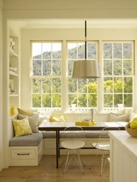 Bench seating, the chairs- love