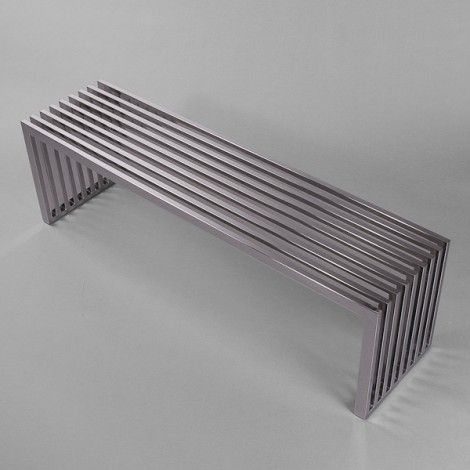 Outdoor Nice Picture Stainless Steel Bench Metal Furniture Steel Bench