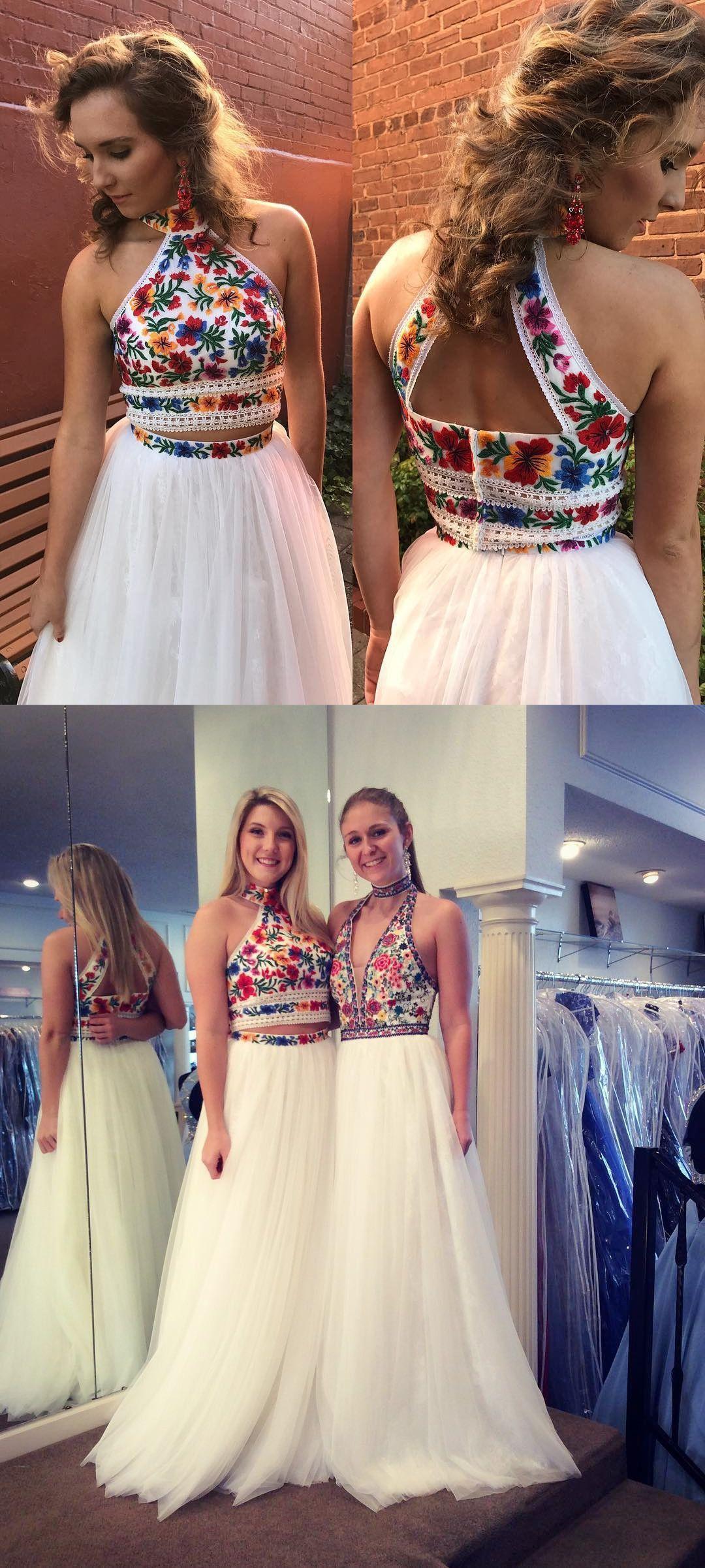 Prom dresses two piece prom dresses prom dresses white long