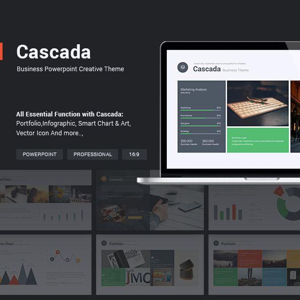 Business theme cascada presentation templates template and business theme cascada business powerpoint templateskeynote toneelgroepblik Gallery