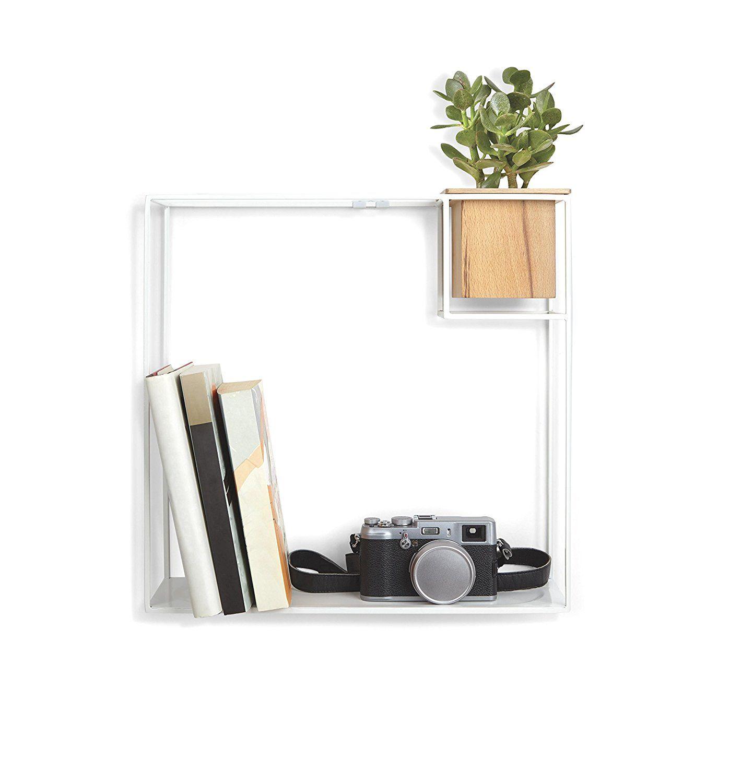 AmazonSmile Umbra Cubist Floating Wall Shelf White Home