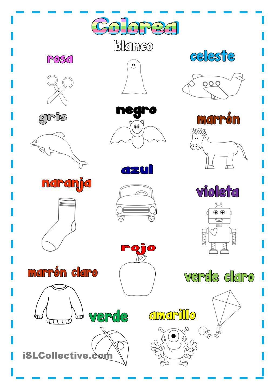 Colorea | Spanish Instruction materials | Pinterest | Spanish and ...