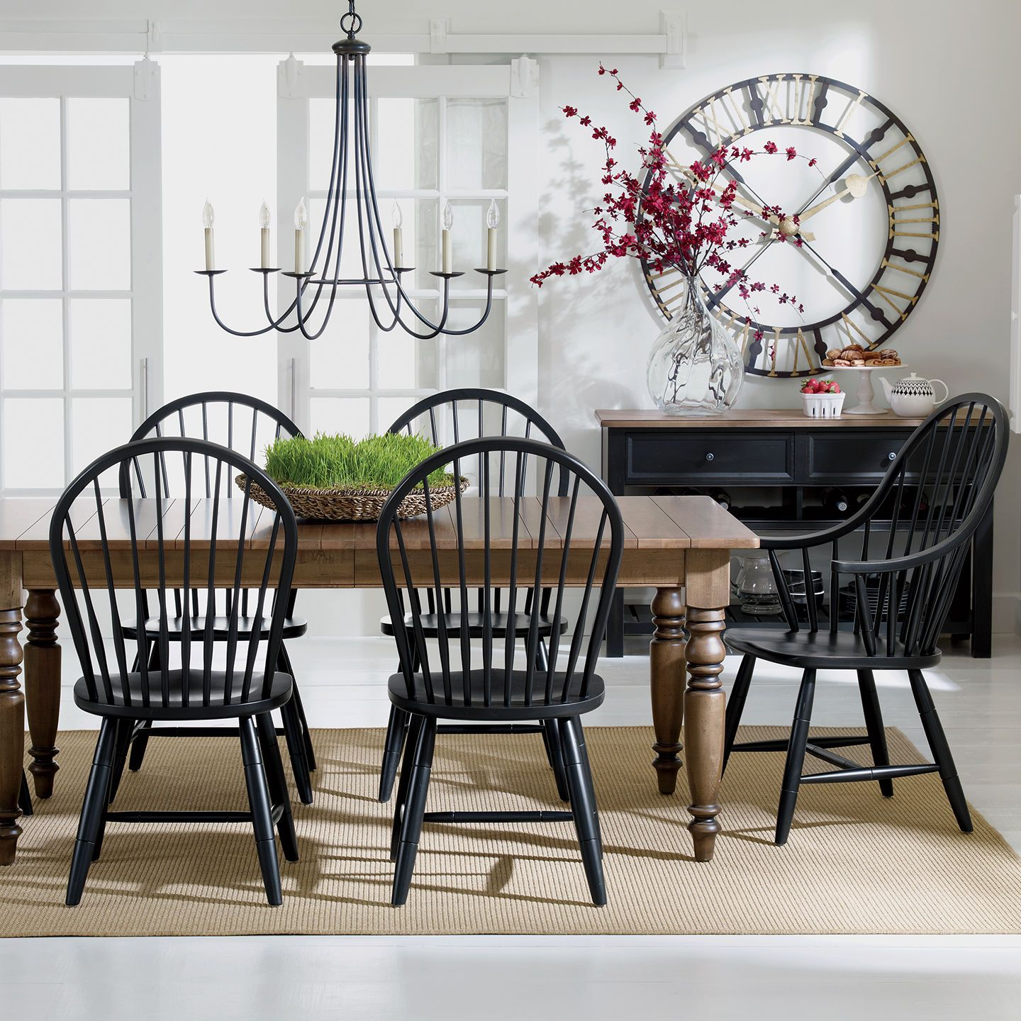 Six Light Iron Chandelier Ethan Allen Us Farmhouse Dining