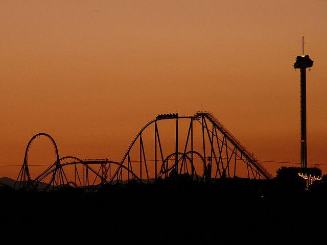 Port Aventura Sunset By Koham Via Flickr Salou Roller Coaster Tarragona