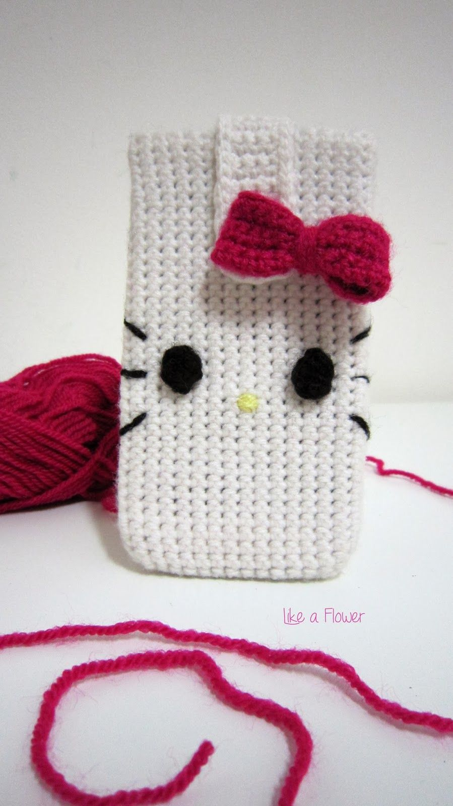 Hello Kitty crochet cover mobile phone | capinhas de celular ...