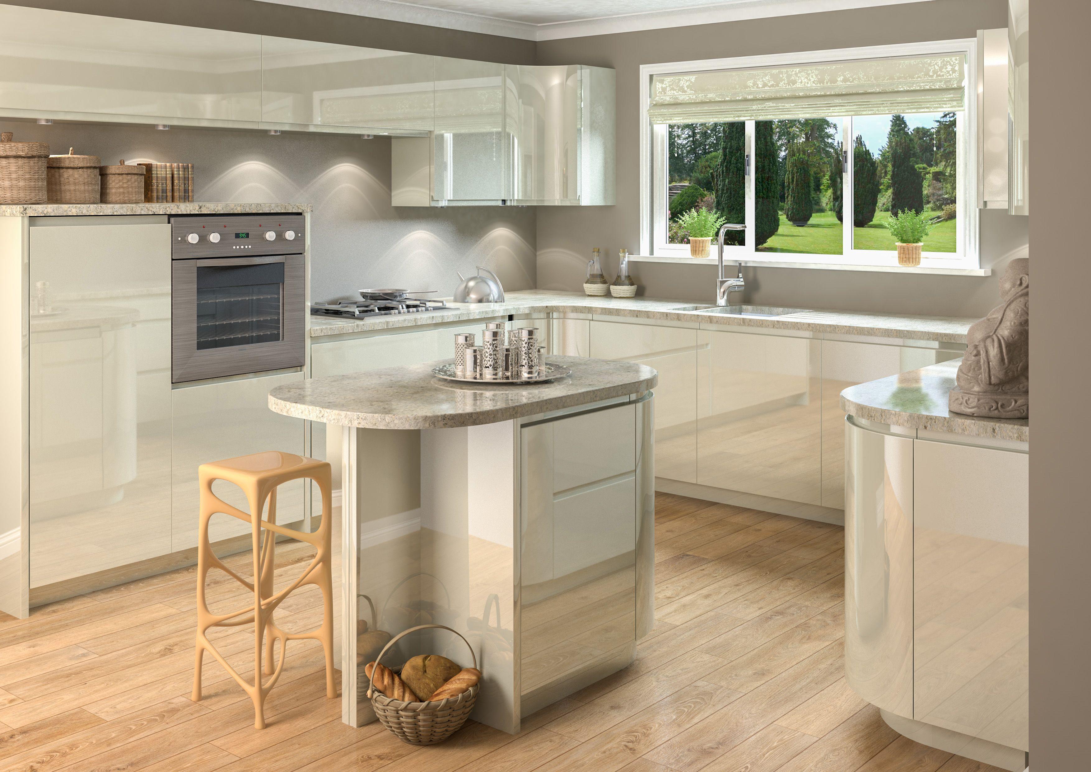 Image result for ivory gloss kitchen   Ivory Kitchen   Pinterest ...