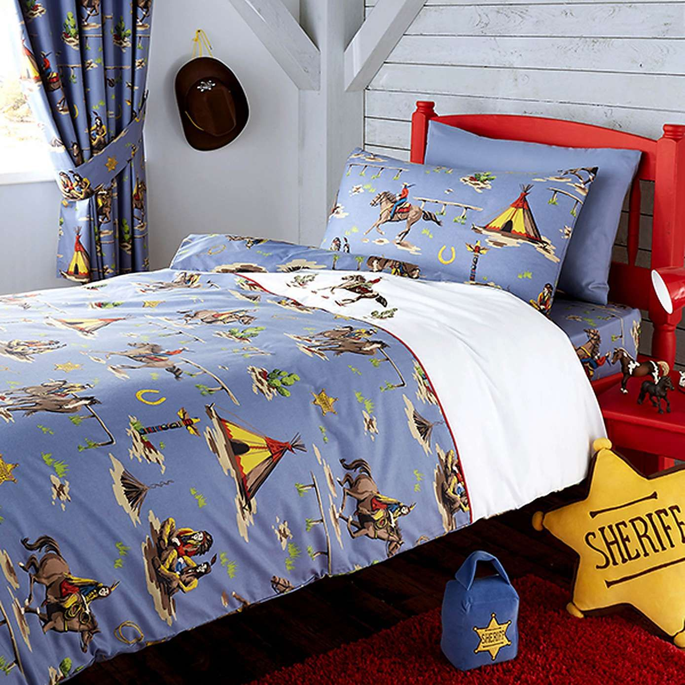 Kids Cowboys And Indians Bed Linen Collection Dunelm