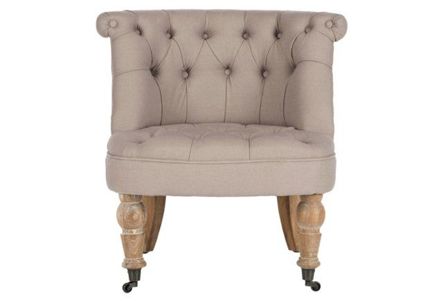 Jeanette Tufted Chair, Taupe