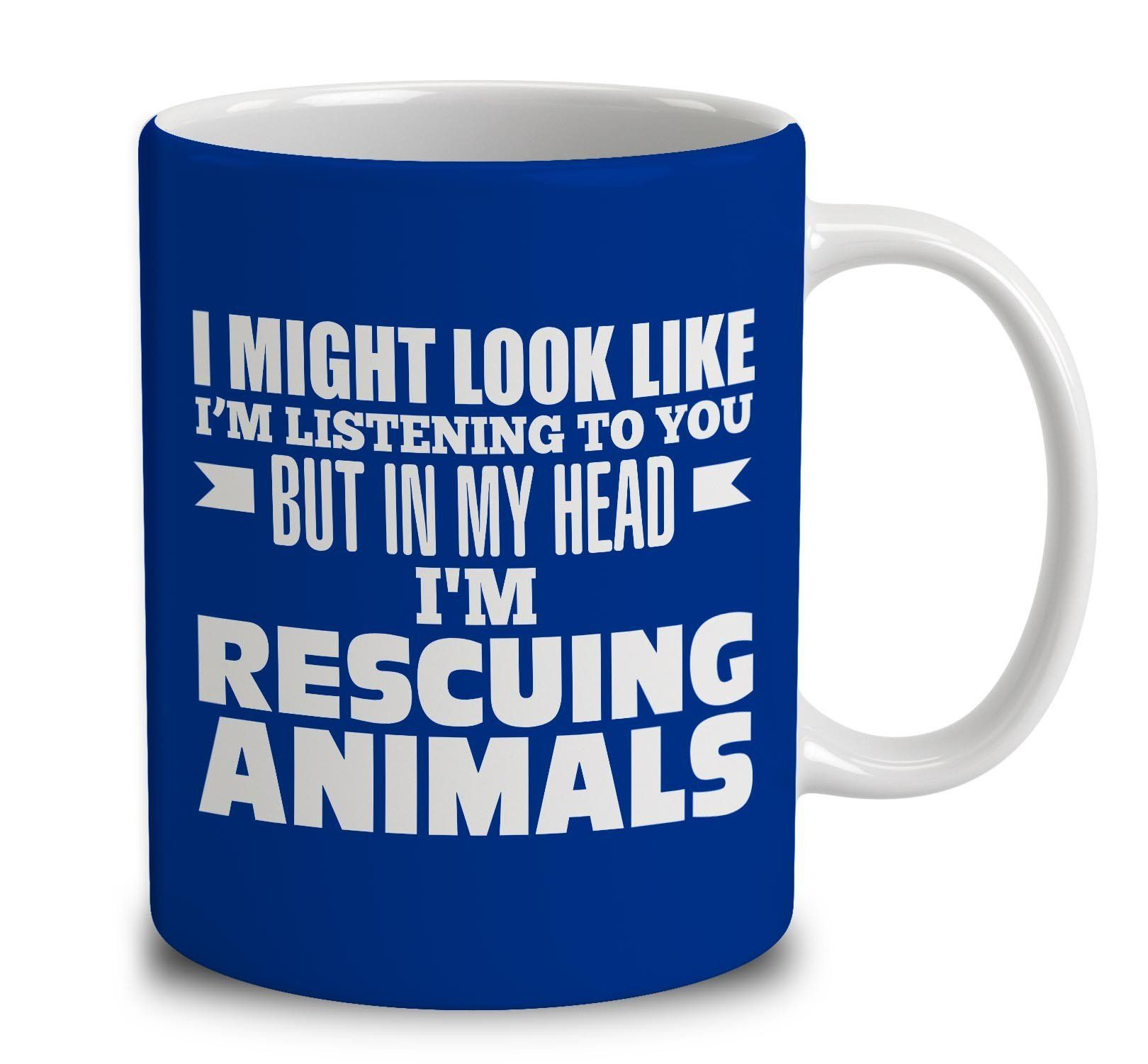 In My Head I'm Rescuing Animals Walking, Dog coffee, How