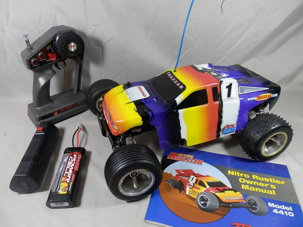 traxxas nitro rustler truck 4410 trx 2 5 rc ez start 2 7 2 battery rh pinterest com traxxas nitro rustler 2.5 manual traxxas nitro rustler parts diagram