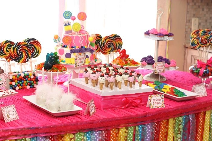 Candy Themed Decoration Ideas Part - 27: Birthday Party Ideas
