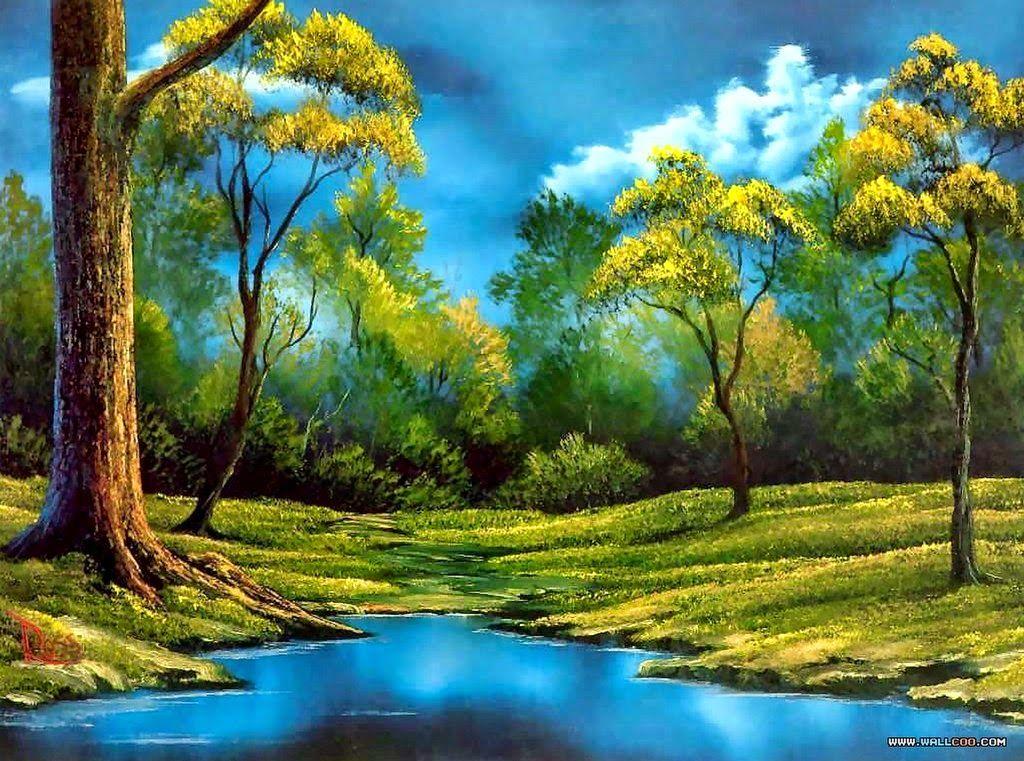 Resultado de imagen para paisajes sencillos para pintar
