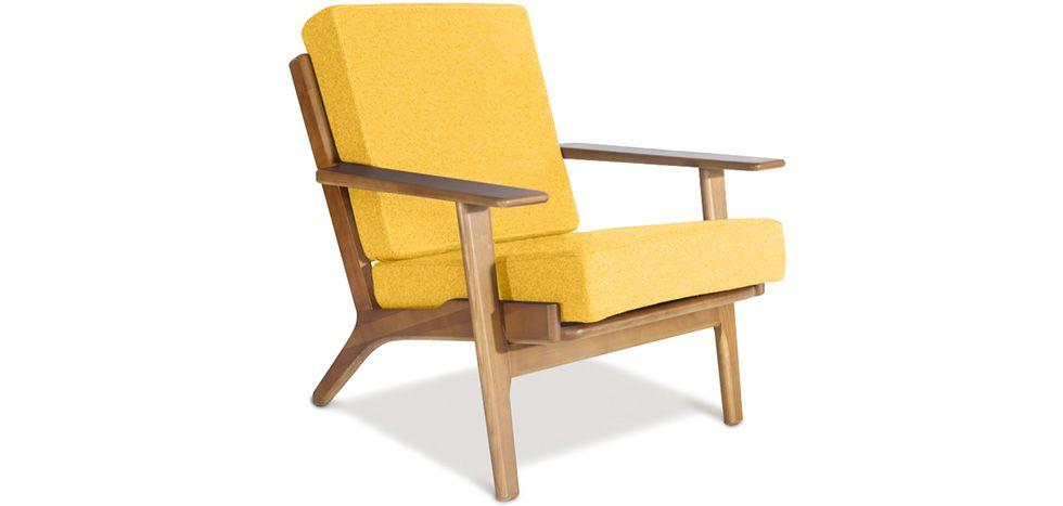 Fauteuil Ge 290 Style Hans J Wegner Cachemire Small Chair For Bedroom Yellow Armchair Armchair