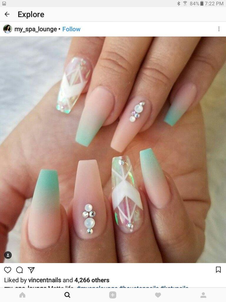 Pin de Marta Ortiz en unas acrilicas | Pinterest | Diseños de uñas ...