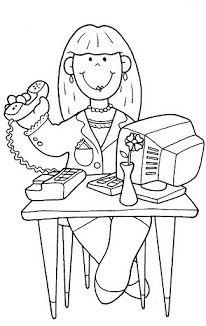 Secretaria Secretary Art Drawings For Kids Coloring Pages Free Coloring Pages