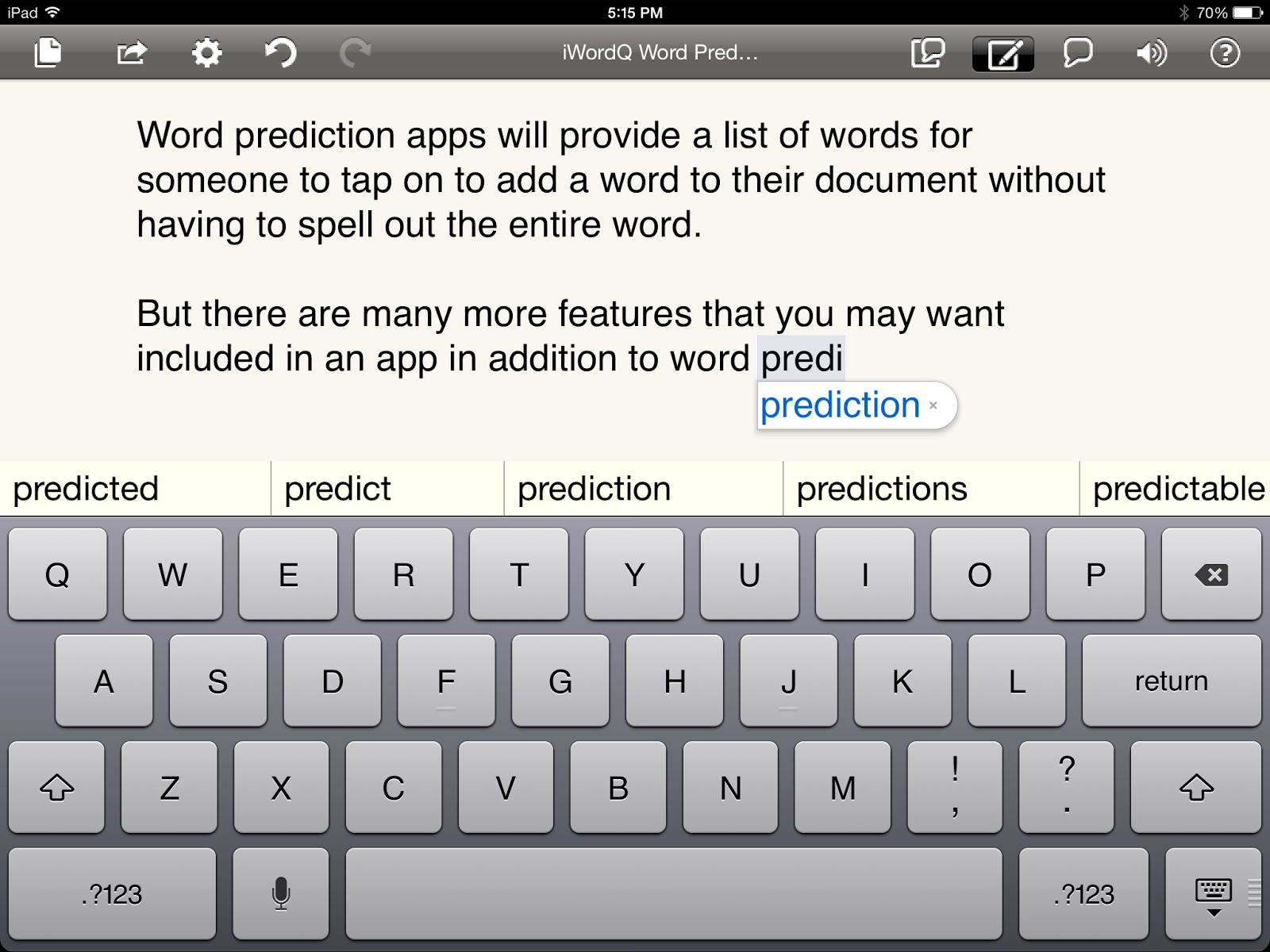 Word Prediction iOS Apps Speech apps, Literacy apps