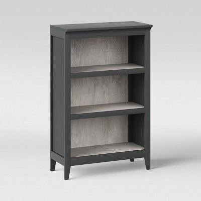 48 Carson 3 Shelf Bookcase Gray Threshold 3 Shelf Bookcase Shelves Bookcase