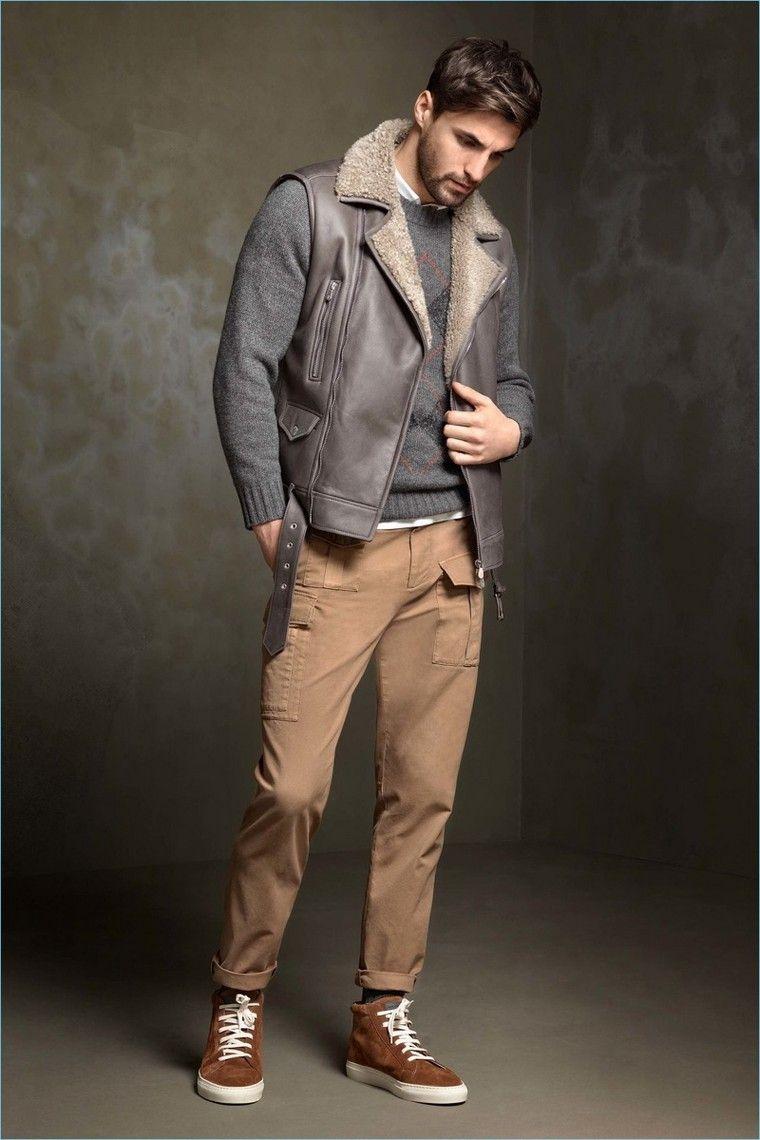 Tenue homme décontractée et stylée   quelles sont les tendances pour la  saison à venir   homme look tendance automne hiver veste en cuir 4106e09202c