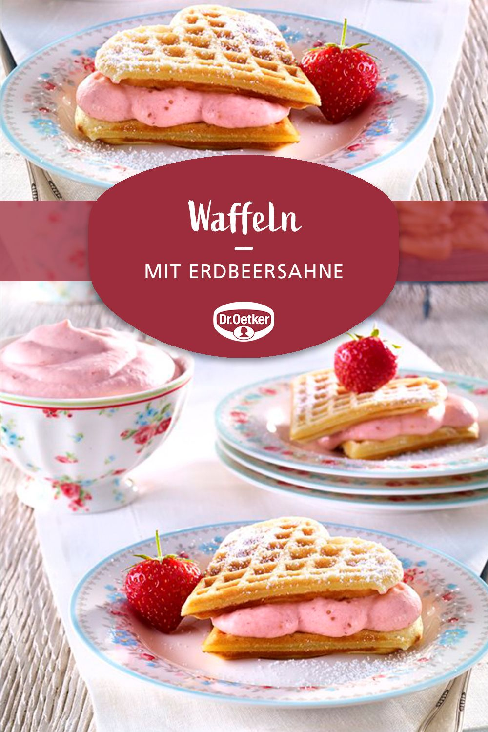 Photo of Waffles with strawberry cream
