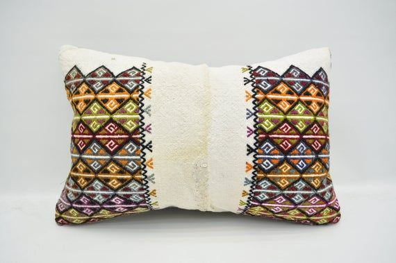 """kilim pillow 16""""x24"""" cushion cover patterned natural decor pillow cover anatolian pillow case ethnic"""