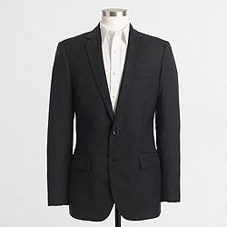 Factory Thompson suit jacket in worsted wool