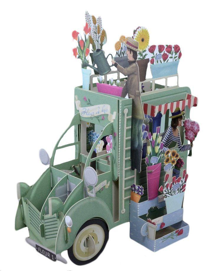 3d pop up birthday card flower sellers truck laser cutting 3d 3d pop up birthday card flower sellers truck laser cutting 3d and flower m4hsunfo