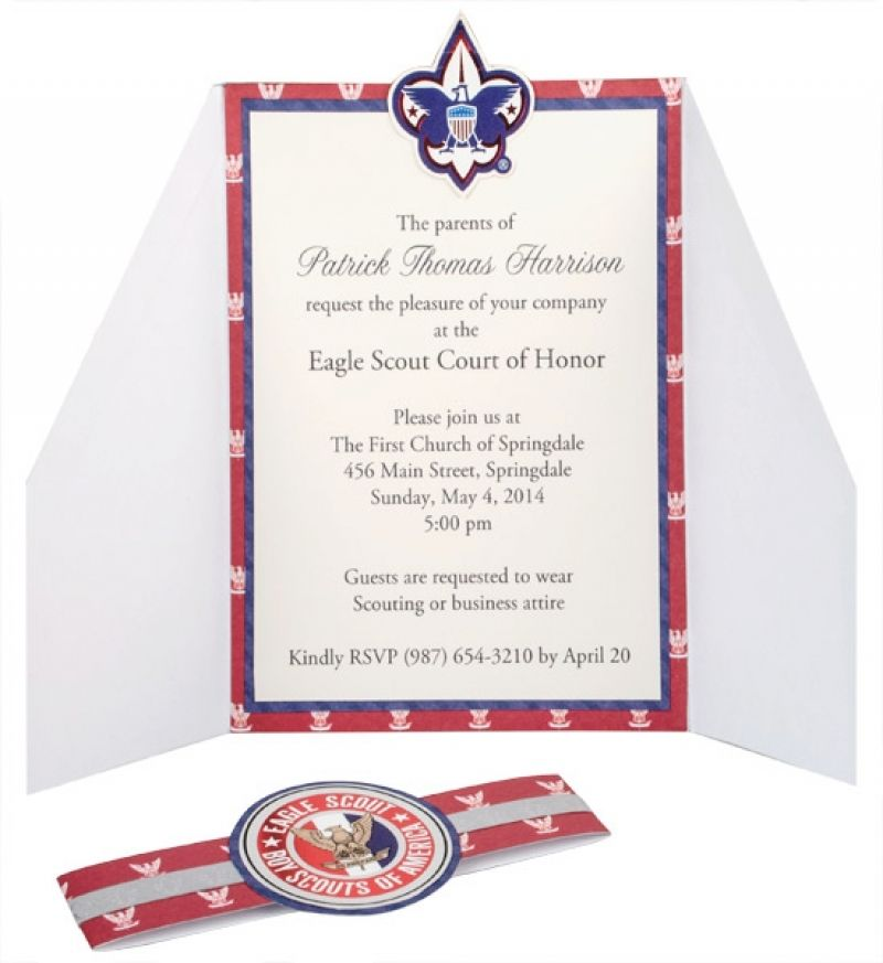 Eagle Scout Court Of Honor Invitation Boy Scout Invitation Template