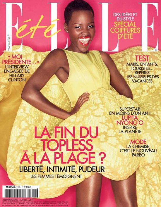Lupita Nyong'o Rocks The Cover Of French Elle's July 2014 Issue