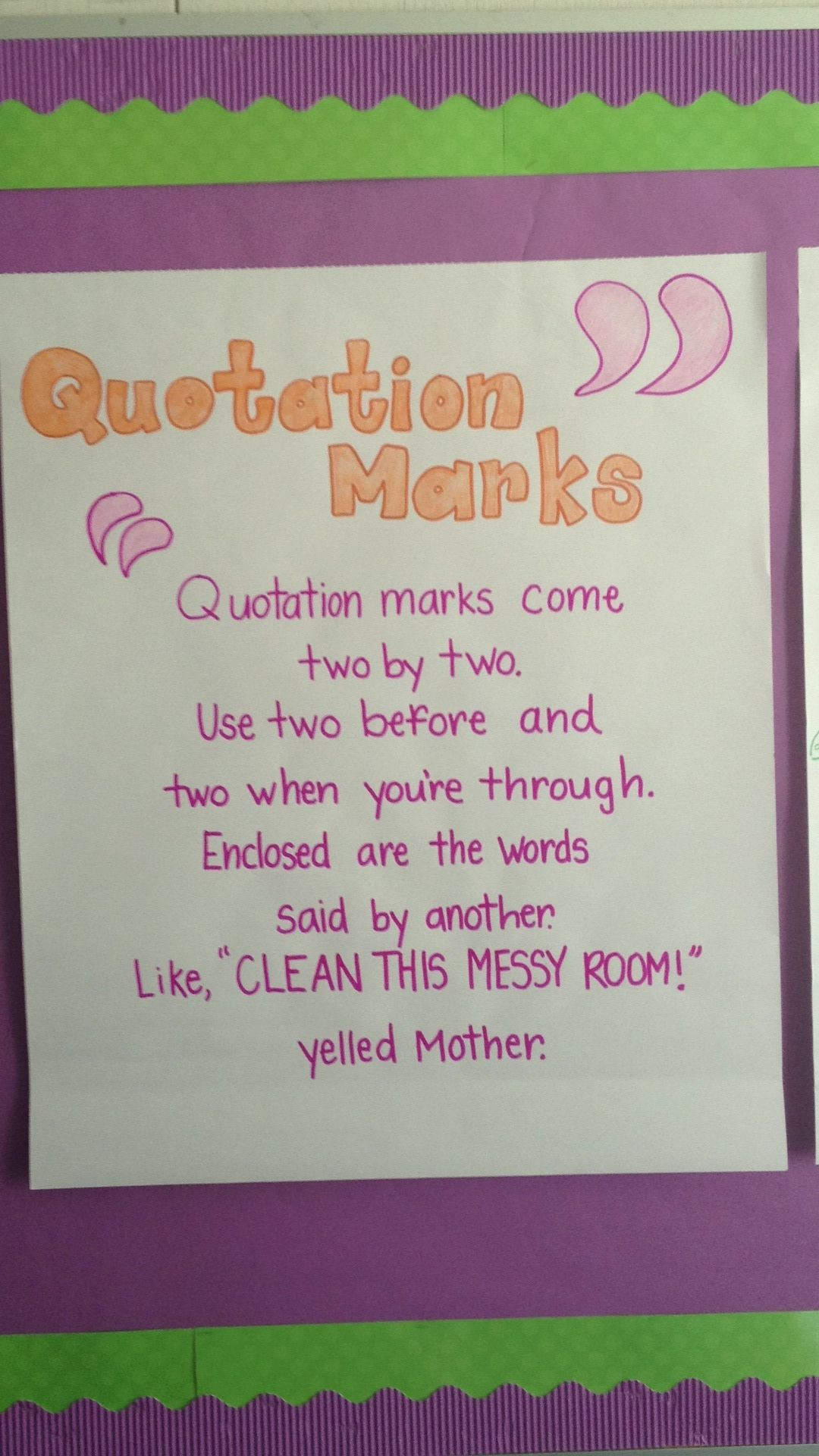 Quotation Marks Anchor Chart With Images