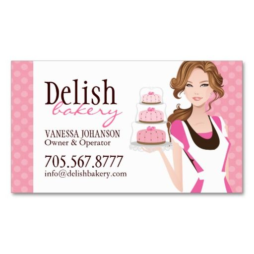Customizable cake bakery business card bakery business cards customizable cake bakery business card fbccfo Gallery