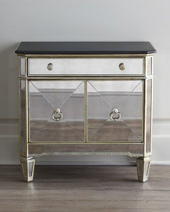 Amelie Two Door Mirrored Chest Mirrored Furniture Furniture