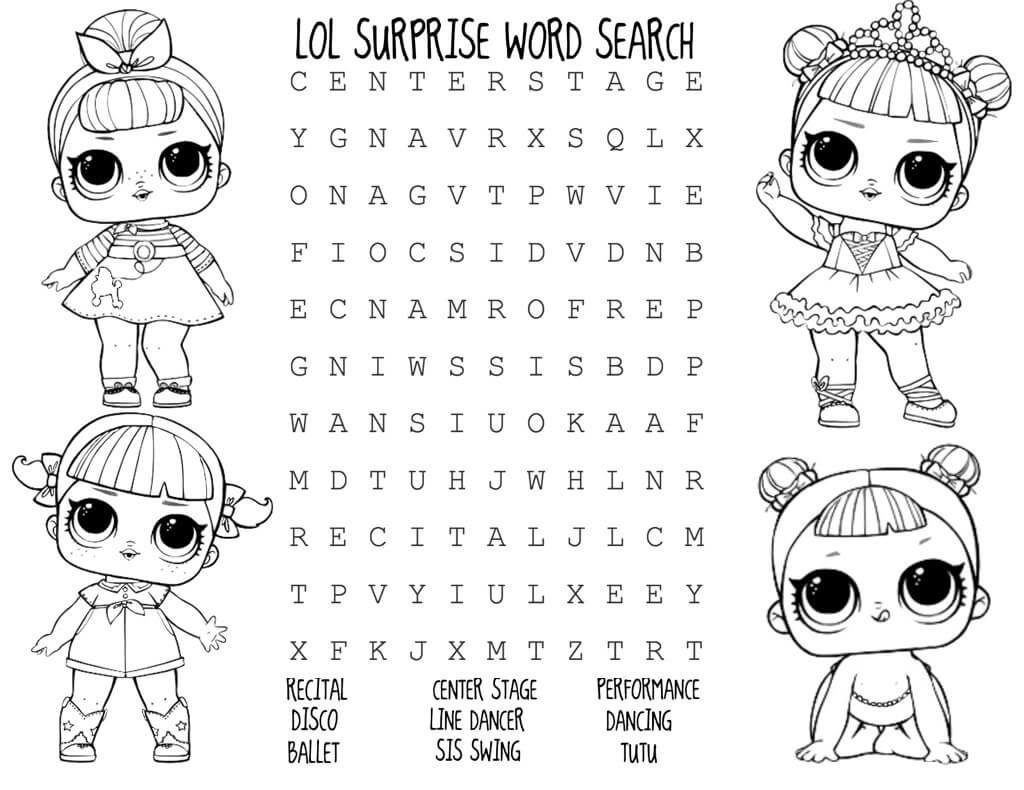 Lol Doll Coloring Pages Lol Dolls Doll Party Activity Sheets