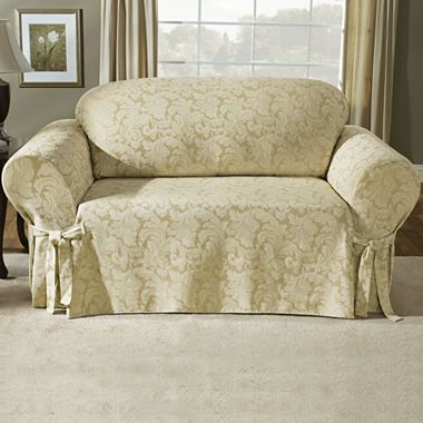 Amazing Jcpenney Com Sure Fit Scroll Slipcover Collection Creativecarmelina Interior Chair Design Creativecarmelinacom