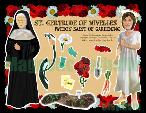 Patron Saint of Gardening and cats. St Gertrude of by magneticcatholic  St Gertrude of Nivelles is a favorite of mine, but SRSLY?