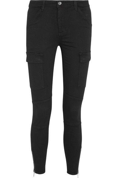Chasseur Extensible Pantalon Slim Twill Modal Mélange - Armée Verte Magnifique S0ltC4PYSP